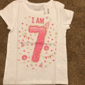 """The Children's Place girl size 5 """"I am 7"""" NWT"""